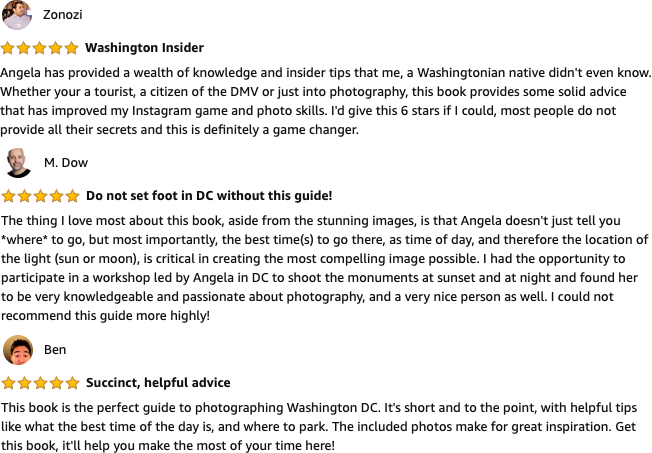 Reviews of `SNAP DC: Your Guide to Taking Extraordinary Photos of the National Mall and Beyond…`