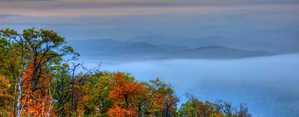 Shenandoah Mountains, Morning Fog, HDR, landscapes - Angela B. Pan Photography