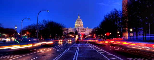 Constitution ave, washington dc, hdr, landscape, night photography, capitol building