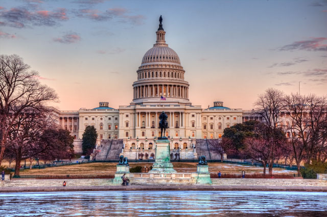 HDR photo, landscape, captiol building, senate, congress, washington dc