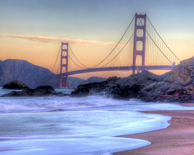 baker beach, sunrise, san francisco, california, hdr, angela b. pan, abpan