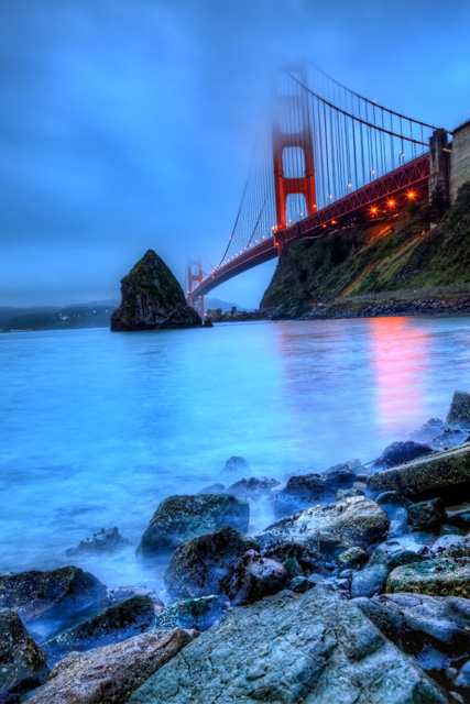 ft. baker, california, northern ca, san francisco, golden gate bridge, sunrise, sausalito