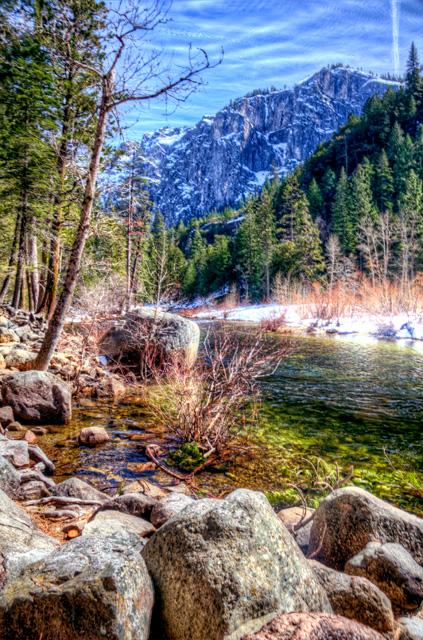 merced river, yosemite, california, landscape, angela b. pan, abpan