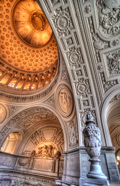 San francisco, california, hdr, city hall, dome, architecture, interiors, abpan, angela b. pan