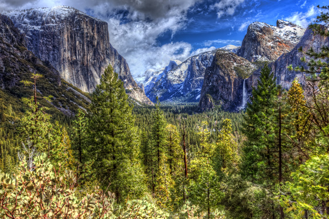 tunnel view, three brothers, yosemite, el capitan, Bridalveil Falls