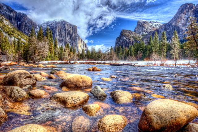 california, hdr, landscape, valley view, yosemite, el capitan, three brothers, merced, abpan
