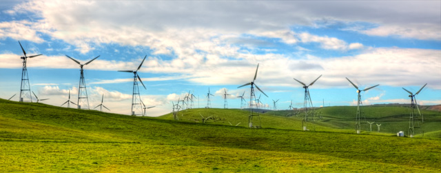 wind farm, california hdr, clouds, windmills, angela b. pan, abpan