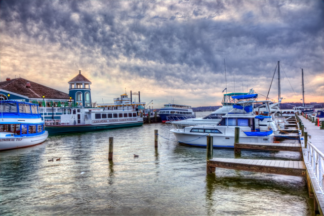 Alexandria, va, sunrise, hdr, landscape, water, boats, clouds, photography, angela b. pan, abpan