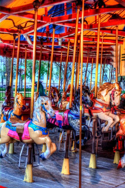 carousel, horses, hdr, the mall, washington dc, angela b. pan, abpan, color