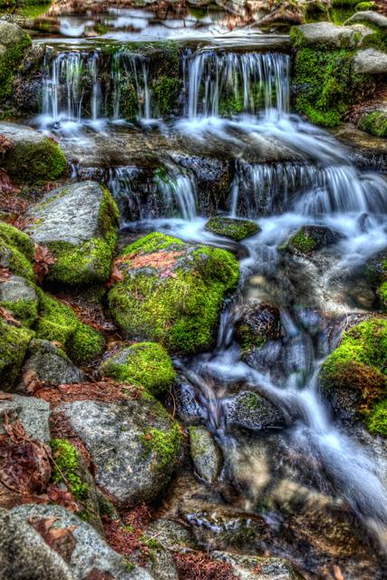 fern springs, water falls, yosemite, water, hdr, landscape, california, angela b. pan, abpan