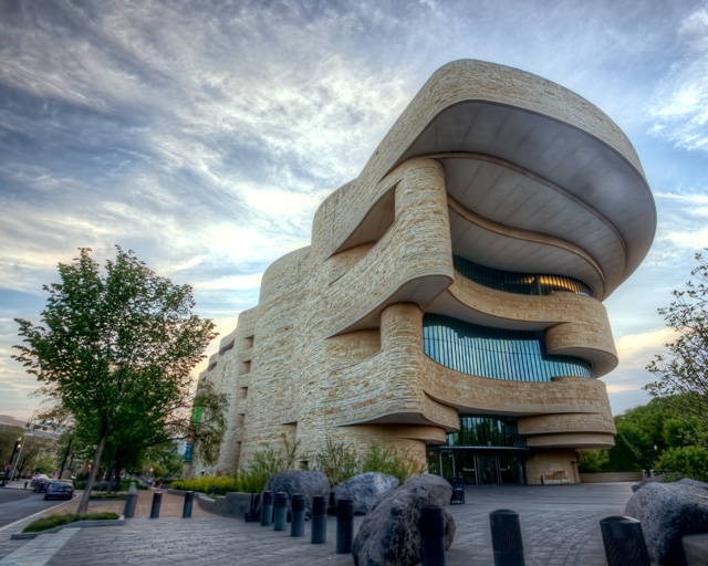 national museum of the american indian, washington dc, sunset, smithsonian, architecture, hdr, angela b. pan, abpan