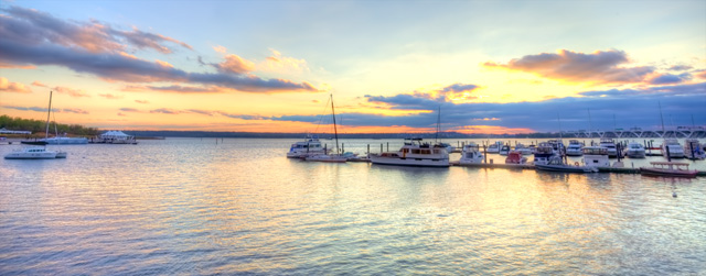 national harbor, sunset, maryland, md, hdr, landscape, boats, water, color, angela b. pan, abpan, maryland travel