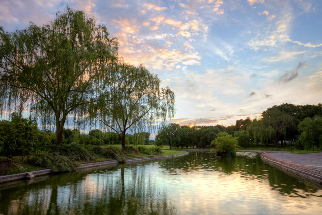 constituion gardens, abpan, angela b. pan, landscape, sunset, hdr, pond, reflection, willow trees