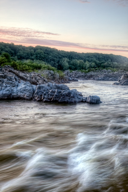 great falls, maryland, potomac river, sunrise, gorge, hdr, landscape, abpan, angela b. pan