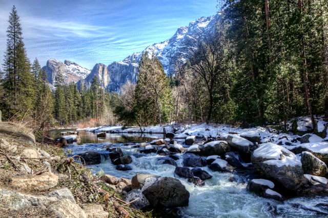 merced river, yosemite, national park, angela b pan, abpan, water, mountains, california, landscape, hdr