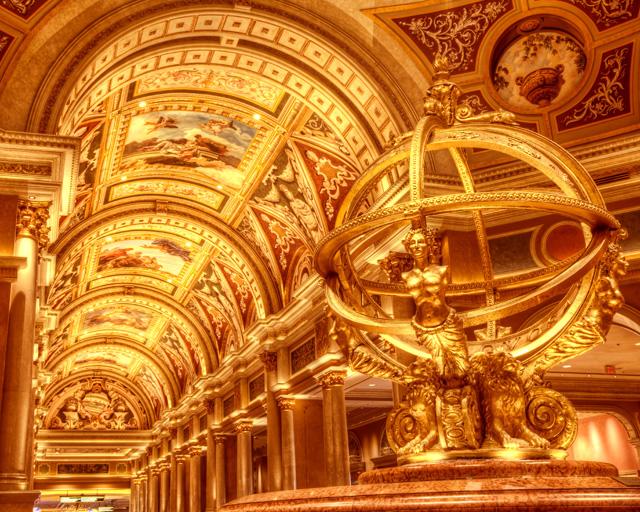 venetian, hotel and casino, lobby, gold, italian influence, angela b. pan, abpan, las vegas,