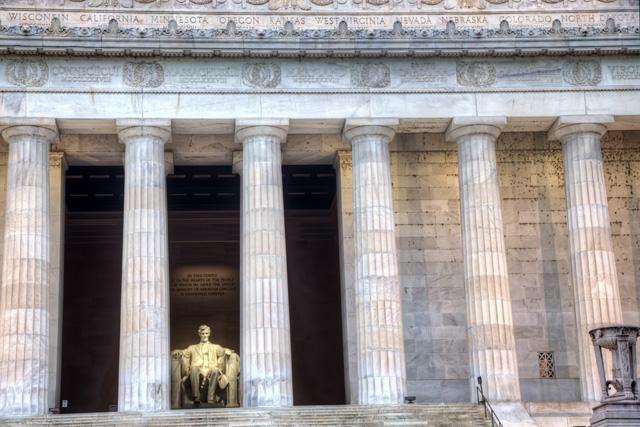 lincoln memorial, washington dc, hdr, columns, abpan, angela b. pan