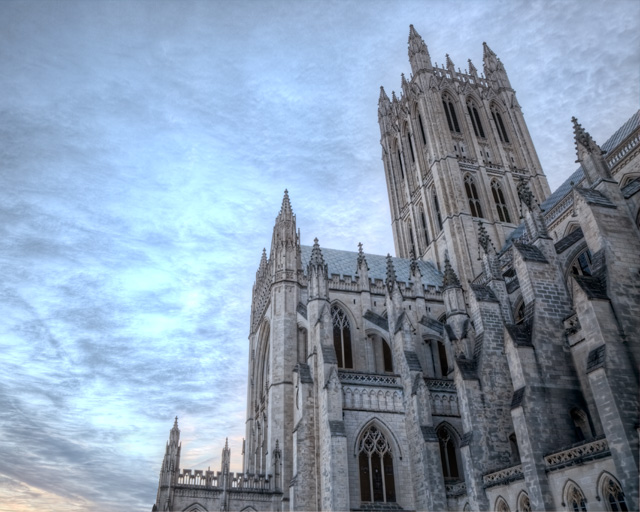 national cathedral, dc, religious art, sunrise, hdr, landscape, angela b. pan, abpan