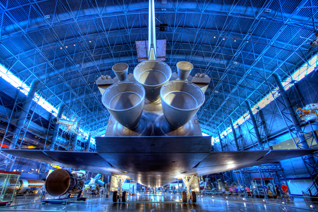 air and space museum,  Steven F. Udvar-Hazy Center, chantilly, va, space shuttle, enterprise, angela b. pan, abpan, hdr, space, nasa,
