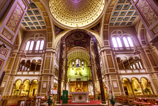franciscan monastery, washignton dc, main alter, hdr, interior, architecture, religous art, religion, angela b. pan, abpan, tomb of christ