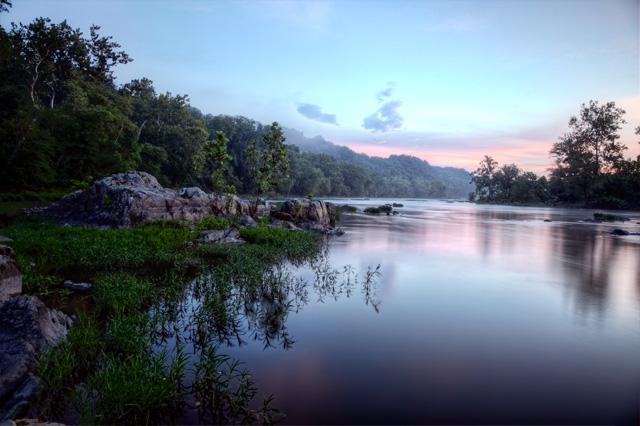 great falls, national park, sunrise, angela b. pan, abpan, hdr, landscape, reflection, virginia, va,