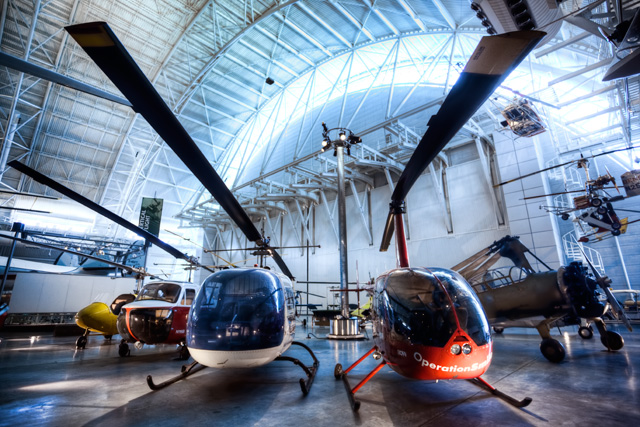 helicopters, air and space museum, Steven F. Udvar-Hazy Center, Chantilly, Virginia, hdr, angela b. pan, abpan