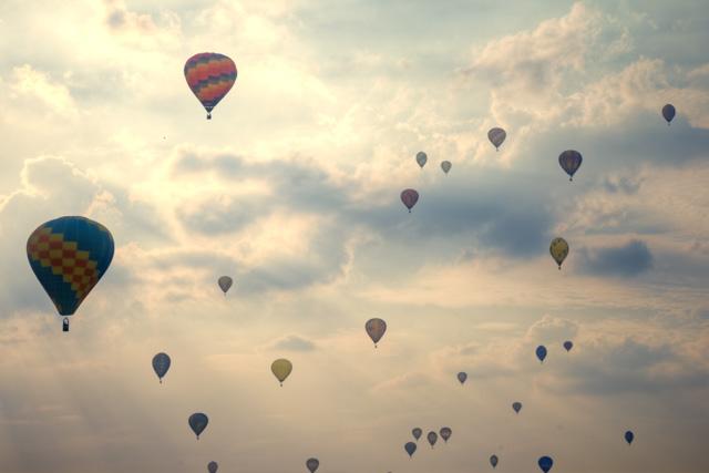 hot air balloon, ohio, middletown, sky, sunset, angela b. pan, abpan, hdr, ohio challenge, MidUSA