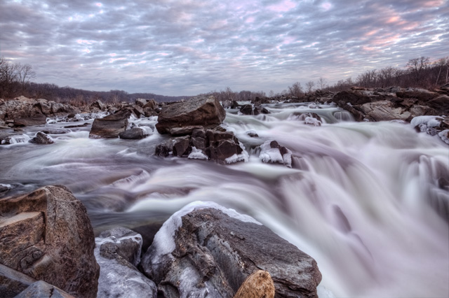 great falls, virginia, landscape, hdr, abpan, angela b. pan, water fall, sunrise