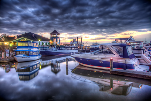 alexandria, va, old towne, boats, dock, hdr, landscape, sunrise, virginia, charter house, travel