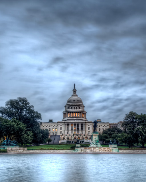 capitol, hurricane irene, angela b. pan, abpan, hdr, landscape, travel, washington dc, clouds, blue, congress, the hill