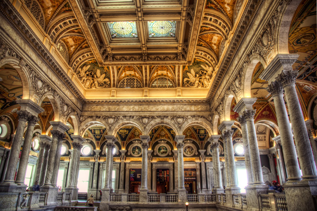 Library of Congress, interior, architecture, angela b. pan, abpan, washington dc, hdr,