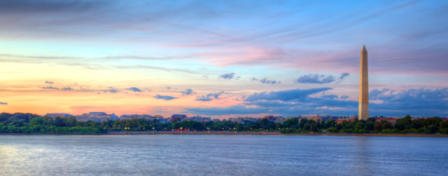 washington monument, tidal basin, sunset, pencil, angela b. pan, abpan, landscape, hdr, travel, nature, photography