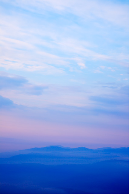 mountain, shenandoah mountains, fog, colors, blue, hdr, travel, virginia, nature, landscape, sunrise, angela b. pan, abpan