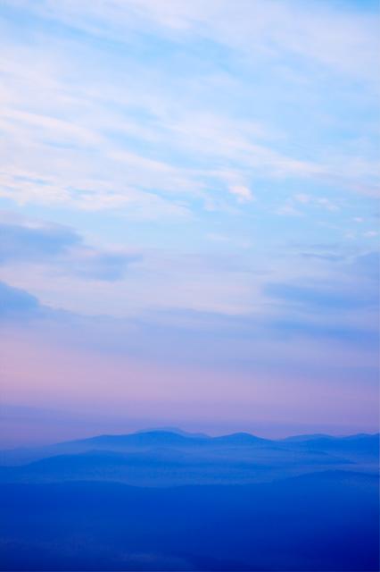 mountain, shenandoah mountains, fog, colors, blue, hdr, travel, virginia, nature, landscape, sunrise, angela b. pan, abpan