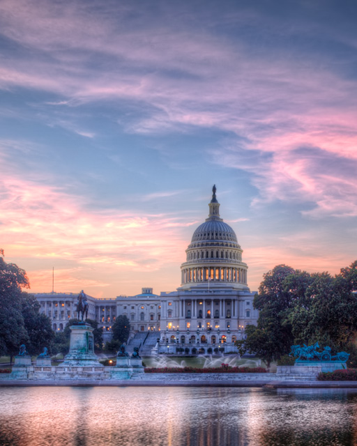 capitol, us capitol, washington dc, congress, the hill, angela b. pan, landscape, hdr, travel, sunrise