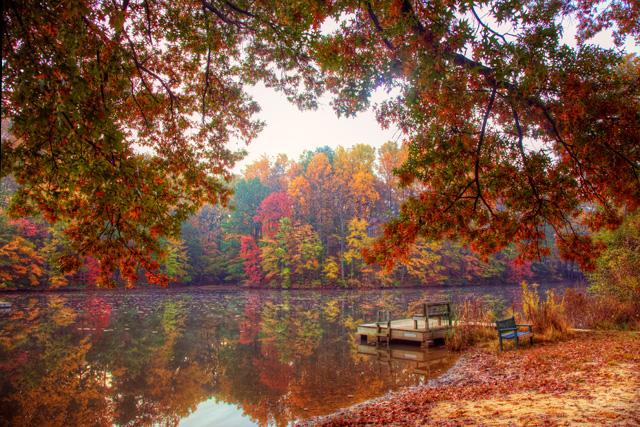 autumn, lake, virginia, fall, color, leaves, angela b. pan, abpan, hdr, travel, landscape,