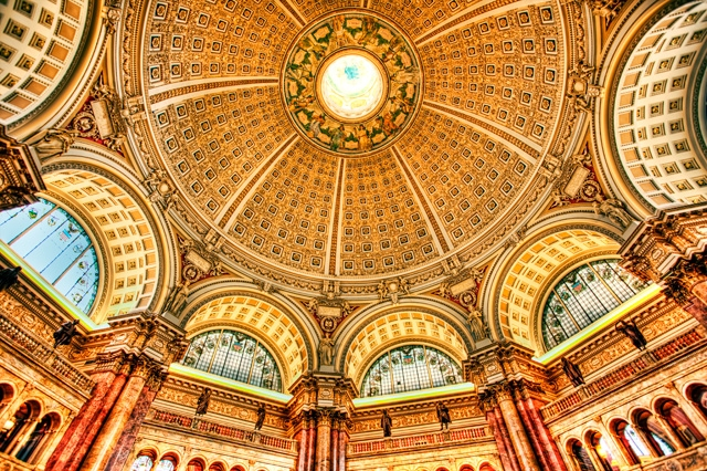 library of congress, reading room, open house, researchers, architecture, hdr, interior, angela b. pan, abpan, washington dc,