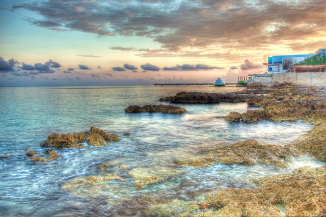 cozumel, mexico, sunrise, landscape, sunrise, angela b. pan, abpan, hdr, travel