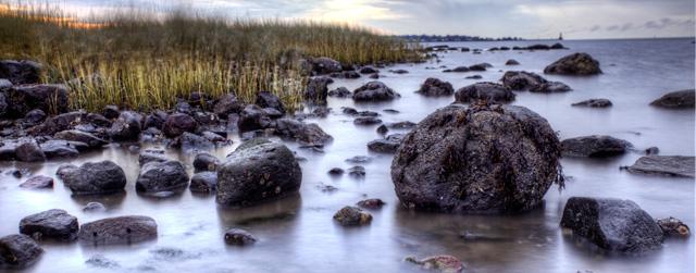 greenwich, rocks, sunrise, beach, angela b. pan, abpan, hdr, landscape, ct, connecticut