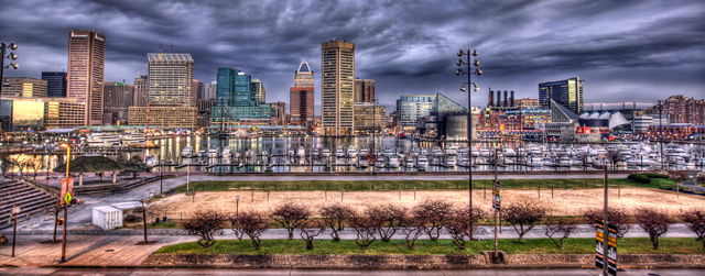 baltimore, federal hill, angela b. pan, abpan, hdr, landscape, maryland, skyline, clouds