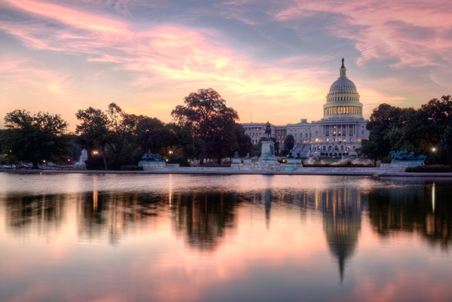 US capitol, congress, angela b. pan, abpan, travel, sunrise, landscape, reflection DC
