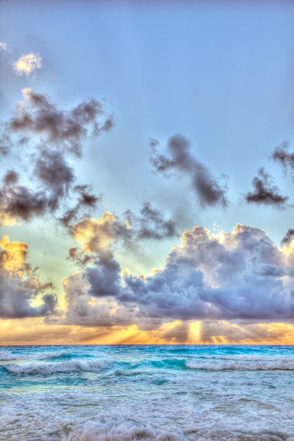 sunrise, cancun, mexico, landscape, angela b. pan, abpan, hdr, landscape, clouds, sun,