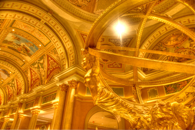 venetian, las vegas, lobby, gold, statue, woman, angela b. pan, abpan, hdr, travel, nevada