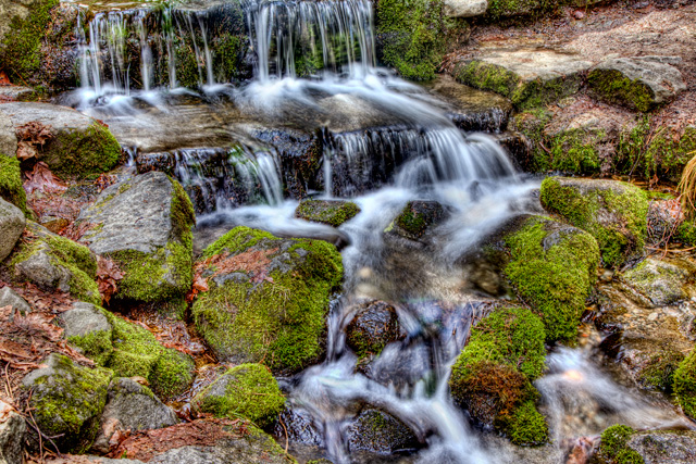 fern springs, yosemite, california, waterfall, travel, hdr, landscape, angela b. pan, abpan,