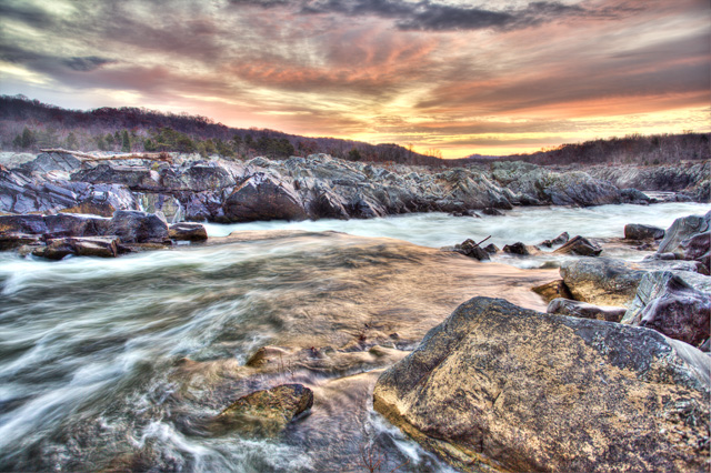 great falls, virginia, travel, sunrise, colorful, potomac, angela b. pan, abpan, landscape, hdr,