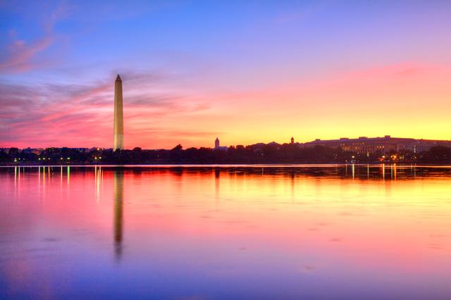 washington dc, monument. sunrise, hdr, landscape, color, angela b. pan, abpan, photography, photo,