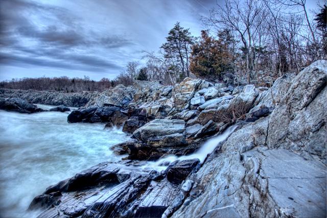 great falls, blue, sunrise, angela b. pan, abpan, travel, landscape, hdr, photography, photo, mather gorge, virginia,