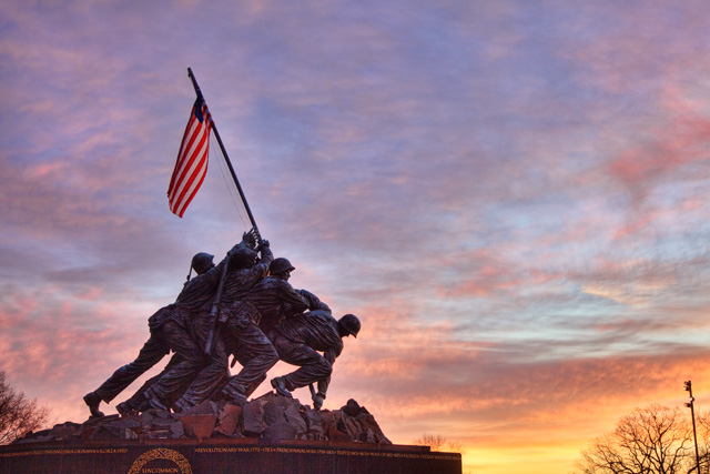 iwo jima, arlington, va, virginia, abpan, angela b. pan, hdr, photography, photo, landscape, sunrise, travel