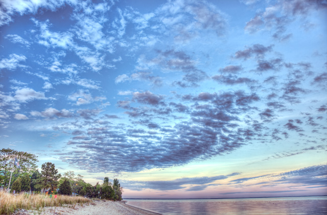 calvert beach, hdr, landscape, private, beach, hdr, photography, photo, angela b. pan, abpan, clouds, sunset, maryland, travel, scenic,