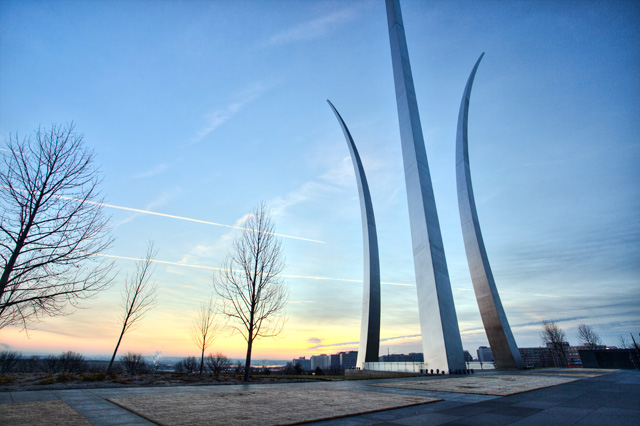 air force memorial, arlington, virginia, va, sunrise, angela b. pan, abpan, memorial day, veterans,